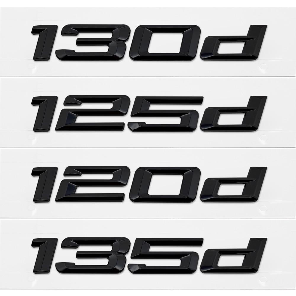 Car Trunk Rear Emblem Logo Sticker Badge Chrome Letters 120d 130d 125d 135d 118d For BMW 1 Series E87 E81 E82 E87 E88 F20 F21