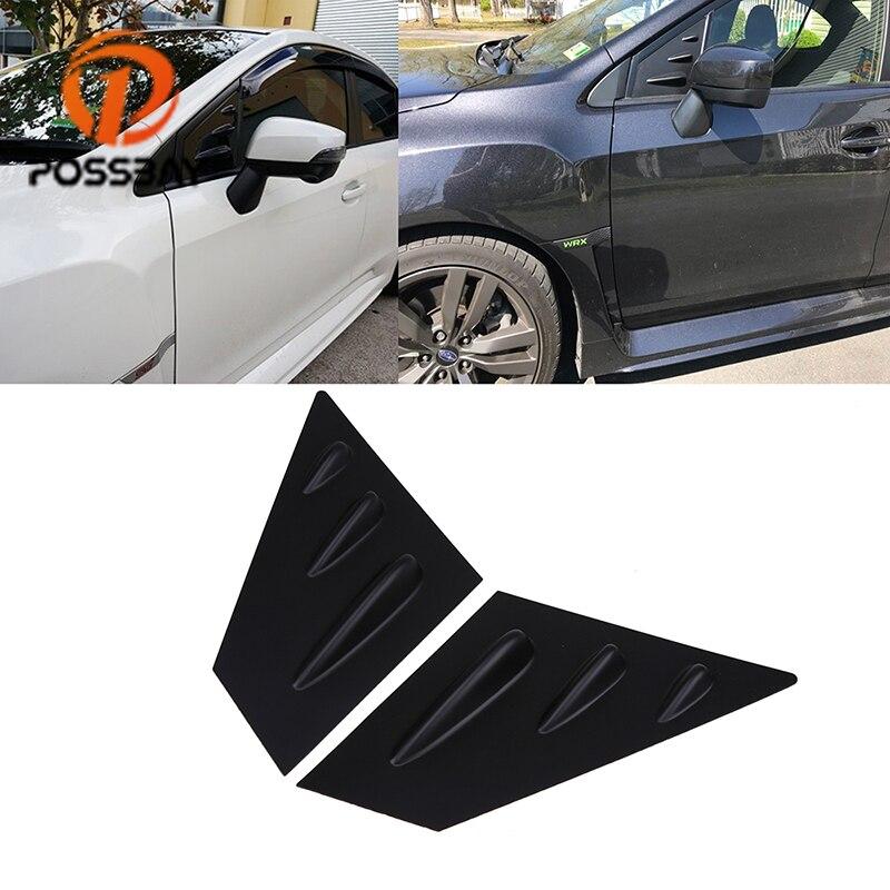 POSSBAY 1/4 Quarter Car Side Front Window Scoop Louvers Vent Visors for Subaru Impreza Hatchback (GP) 2012 2013 2014 2015 2016