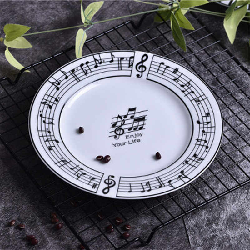 Tasse à café Stave de Piano de 280ml | Tasse à thé avec couvercle pour clavier, tasse de thé de 8 pouces, musique créative, Stave assiette de clavier, bol ou meilleur cadeau
