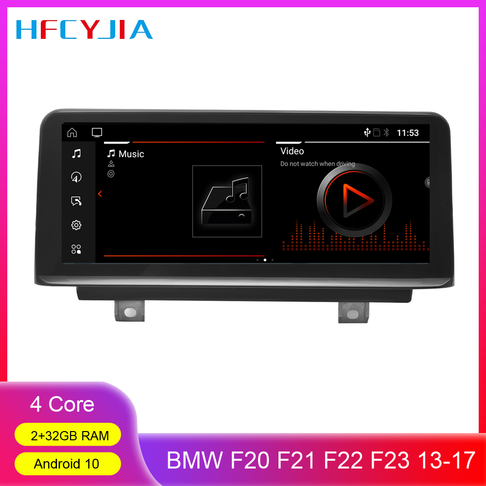 Android 10 System Car Multimedia Screen For <font><b>BMW</b></font> F20 F21 F22 F23 (Cabrio) 2013-2017 WIFI BT SWC IPS 2+32G Auto GPS Navi Display image