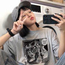 Horreur Comics été nouvelle femme t-shirt décontracté grande taille lâche Harajuku Vintage foncé japonais à manches courtes hauts Couple T-Shirt