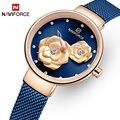 NAVIFORCE  новые часы для женщин  роскошный бренд  креативный дизайн  стальная сетка  женские часы  женские часы  Relogio Feminino Montre Femme