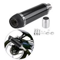 51mm Universal Motorcycle Modified Real Bright Carbon Fiber Exhaust Muffler Pipe with DB Killer Escape Muffler Pipe