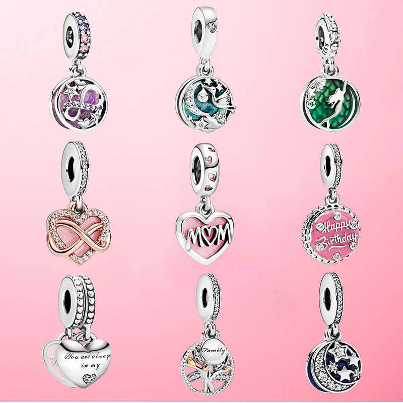2020 NEW HOT 10 Stili 925 Sterling Silver Ciondola I Branelli di Fascino Fit Originale Pandora Braccialetto Della Collana Del Pendente del Regalo Dei Monili