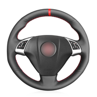 Fiat Grande Punto Bravo Linea 2007-2019 Qubo Doblo Opel Combo 용 검은 인조 가죽 자동차 핸들 커버