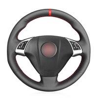 Fiat Grande Punto Bravo Linea 2007 2019 Qubo Doblo Opel Combo 용 검은 인조 가죽 자동차 핸들 커버|스티어링 휠 & 스티어링 중심|자동차 및 오토바이 -