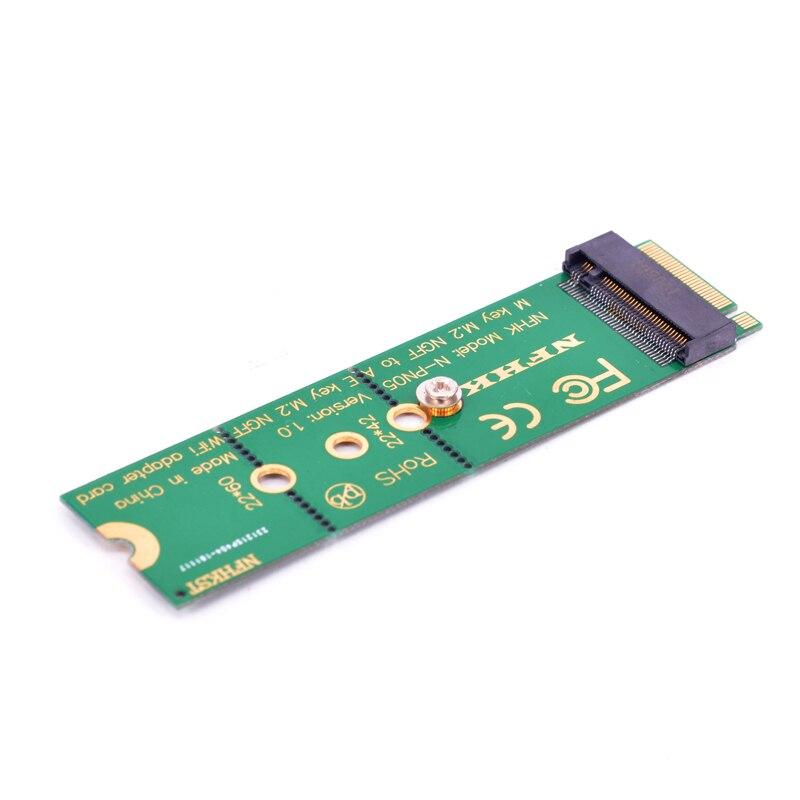 M.2 M key to A + E Key NGFF slot WIFI Wireless Network Card M2 NGFF PCI express to E key slot Adapter 3