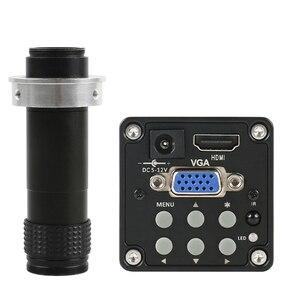 Цифровая камера 14MP 720P 60FPS HD CCD HDMI/VGA, промышленный видеомикроскоп, ИК-пульт дистанционного управления + объектив 130X Zoom C-mount