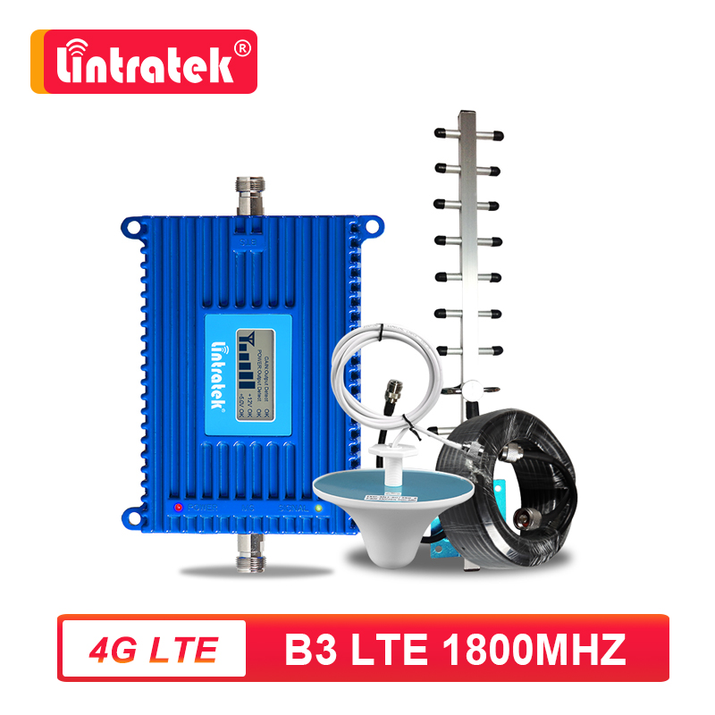 Усилитель сигнала сотового телефона Lintratek, 70 дБ, 4G LTE B3 FDD 1800 МГц, 4G