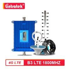 Lintratek 70dB 고 이득 4G LTE B3 FDD 1800MHz 핸드폰 신호 부스터 4G 인터넷 셀룰러 증폭기 리피터 안테나 세트 S6