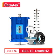 Lintratek 70dB yüksek kazanç 4G LTE B3 FDD 1800MHz cep telefonu sinyal güçlendirici 4G Internet hücresel amplifikatör tekrarlayıcı anten seti S6