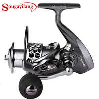 Sougayilang Fishing Reel 13+1BB/11BB Light Weight Ultra Smooth Aluminum Spinning Fishing Reel Wheel