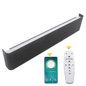 Modern Led Wall Light fixture 2.4G RF remote control staircase lighting sconce lamp bedside lamp wall lamp bathroom mirror light 5w aluminum led wall lamp mirror light indoor decor bedside wall light corridor bathroom lighting porch wall sconce lamp 90 260v