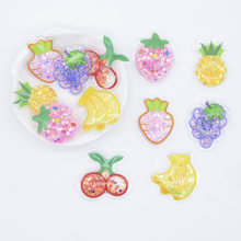 24Pcs Fruits Strawberry Carrot Pineapple Cherry Grape Banana Sequins Shake Appliques for DIY Headwear Clips Bow Accessories P27(China)