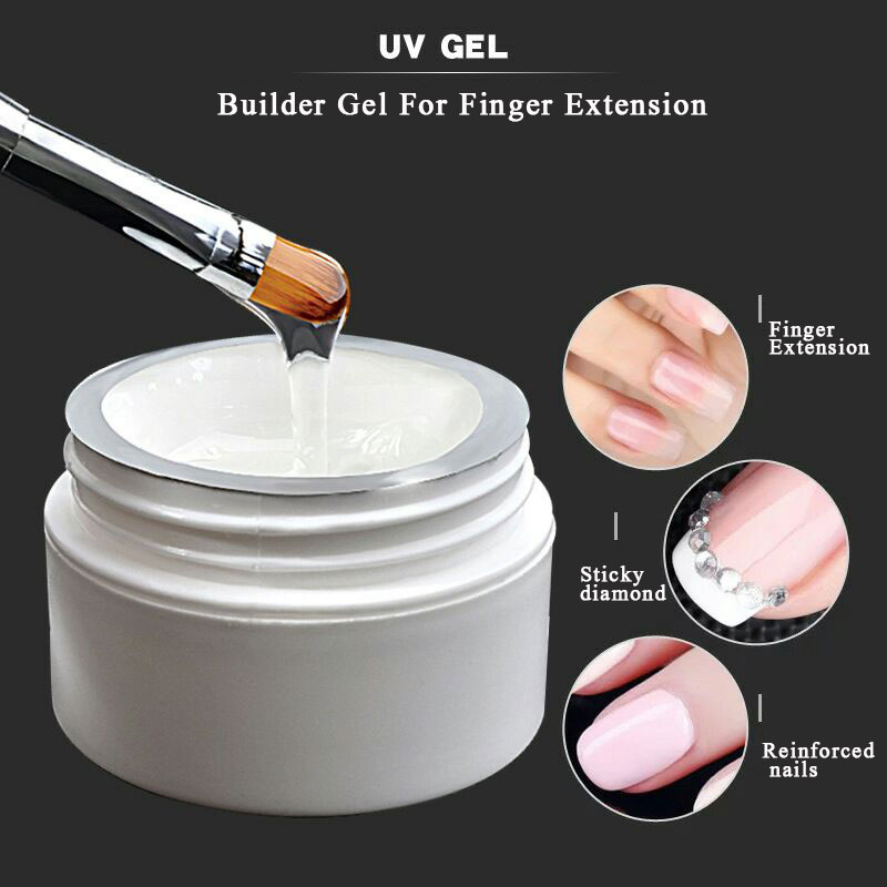 UV Builder Gel For Nail Extension Gels Acrylic UV Builder Crystal Nail Art Extension Tips Pink / White / Clear Extension gel