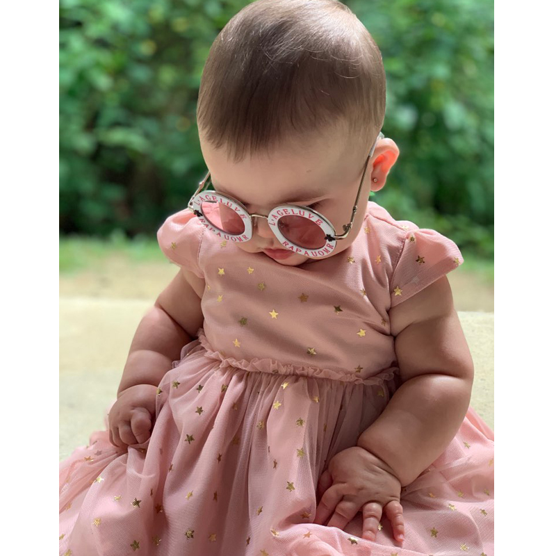 2019 Cool Streetwear Glasses New Infant Kids Girls Boys Fashion Sunglasses Letter Solid Hot Sun Glasses 7 Colors Dropshipping