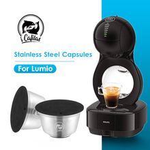 ステンレス鋼のコーヒーフィルターネスカフェドルチェグストlumio機詰め替え再利用可能なコーヒーカプセルポッド