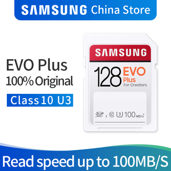 Samsung SDHC CARD EVO Plus 32GB 64GB 128GB 256GB SD CLASS10 U1/U3  Memory Card For 1080p 3D 4K Video Camera SDXC