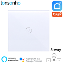 Lonsonho 2 Way Smart Wifi Switch EU 220V Tuya Smart Life App Wireless Remote Control Light Panel Wall Switches Alexa Google Home wifi switch wireless 4ch 12v dc wi fi interruptor controlled by smartphone app wireless remote control light switches