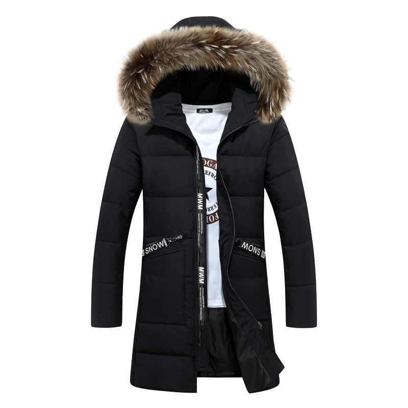 Парка 2020 Повседневная Классическая зимняя куртка Мужская ветрозащитная Теплая стеганая куртка с капюшоном модная верхняя одежда пальто