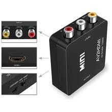 HDMI Zu RCA AV/CVBS Adapter Mini Composite CVBS Zu HDMI HDMI2AV Konverter BOX Für PS3 VCR DVD PALMTSC unterstützung NTSC PAL