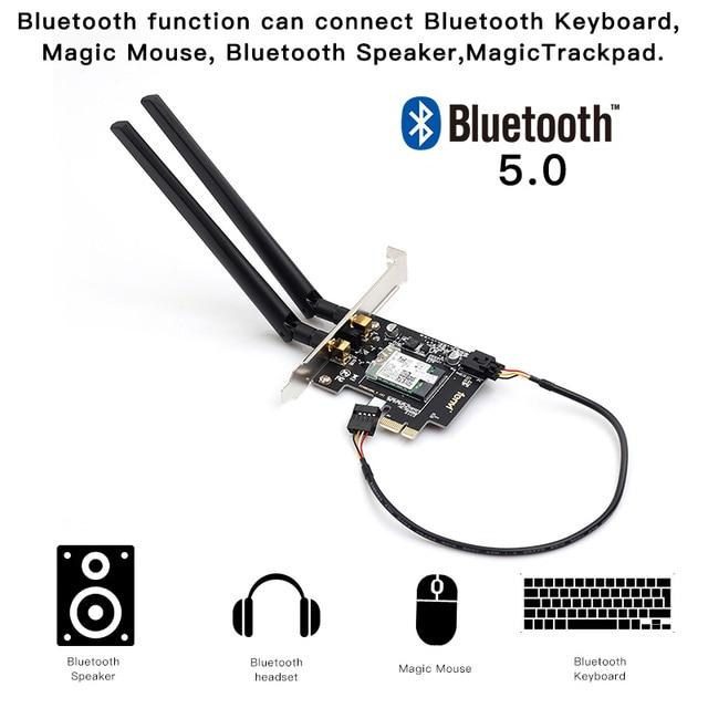 Dual Band 2.4Gbps PCIe Wifi Card Gigabit Network Card Bluetooth 5.0 Wi-Fi 6 AX200 Wireless Adapter For Pc Desktop Windows 10