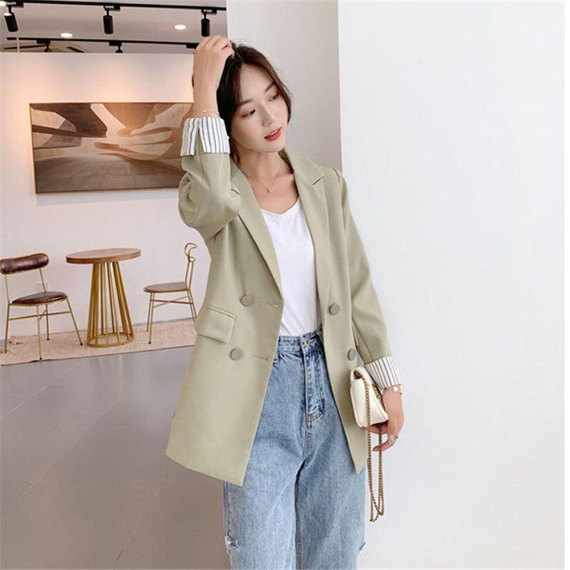 HziriP Ventilation Single Breasted Office Ladies Feminine All Match Slender Women Elegant High Street Loose Suit Plus Blazers