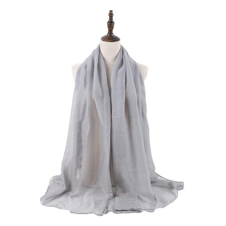 Wholesale Price Women Muslim Crinkle Hijab   Scarf   Femme Musulman Soft Cotton Headscarf Islamic Hijab Shawls and   Wraps
