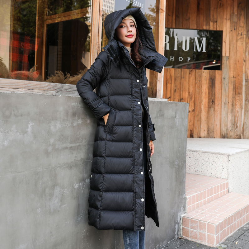 Winter Jacket Women Down Coat Female Thick Brand White Duck Down Jacket Womens Long Coats Warm Hooded Clothes Hiver W2389