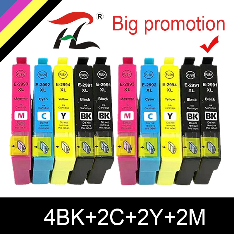 HTL 10pk Replacement 29 29XL T2991XL T2991 For <font><b>Epson</b></font> ink Cartridges XP235 XP247 XP245 XP332 XP335 XP342 <font><b>XP345</b></font> XP435 XP432 XP442 image