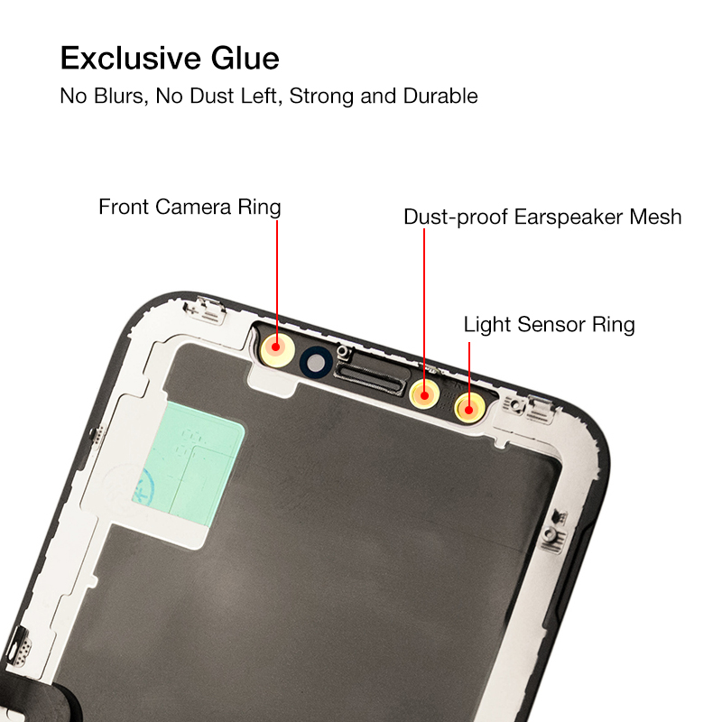 "Hfe148dbba1844720b73691665f75dab8X 1PC Upgraded Version New OLED Quality LCD Screen for iPhone X XS XR 10 5.8"" LCD Display Digitizer Assembly Replecment"