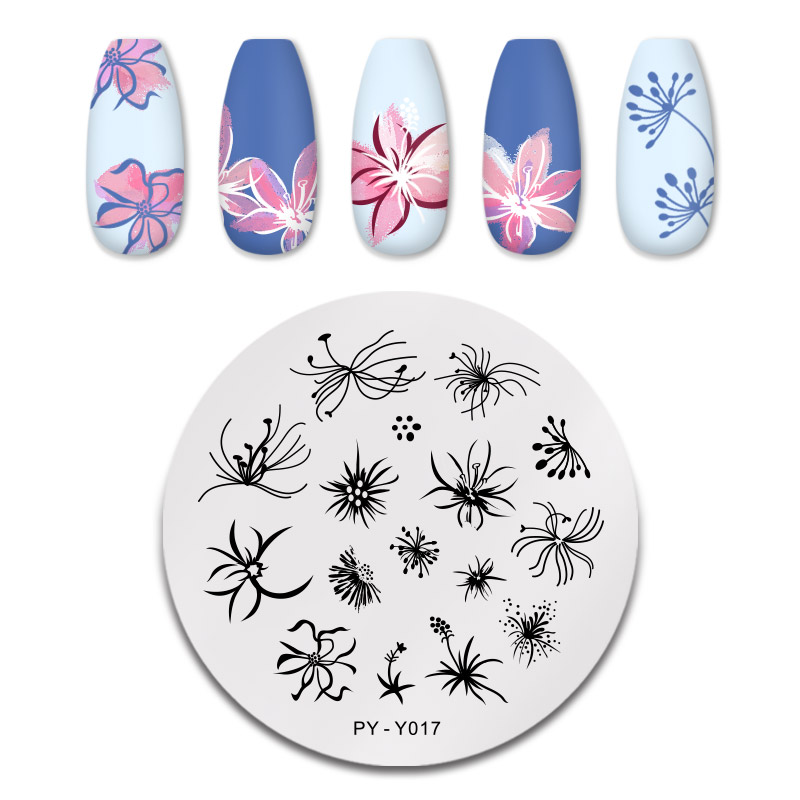 PICT YOU 12*6cm Nail Art Templates Stamping Plate Design Flower Animal Glass Temperature Lace Stamp Templates Plates Image 32