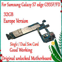 100% Original Unlocked For Samsung Galaxy S7 Edge G935F/G935FD Motherboard 32GB Europe Version With Full Chips Logic board