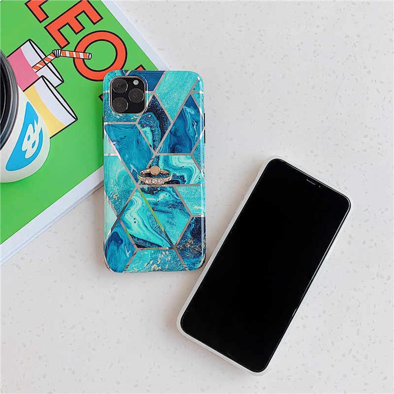 Caso para iPhone 11 2019 en iPhone 11 Pro Max mate de recubrimiento de TPU caso para iPhone X XS X MAX XR soporte funda protectora