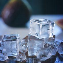 24 قطعة مكعبات الثلج الاصطناعية ، الاكريليك شفافة المشروبات وهمية الجليد الغذاء التصوير الدعائم