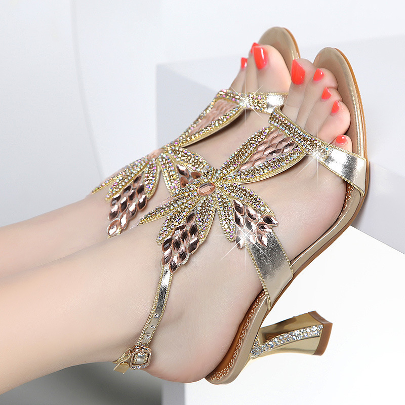 2020 New Crystal ladies sandals High heels sandals women Platform sandals womens shoes High quality women sandals shoes woman