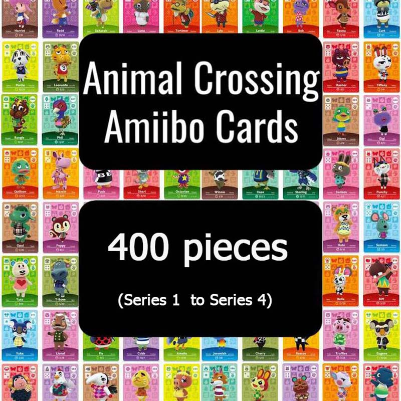 400pcs Animal Crossing Card Amiibo Card Full Set For Switch Animal Crossing Cards  (Series 1 To Series 4)