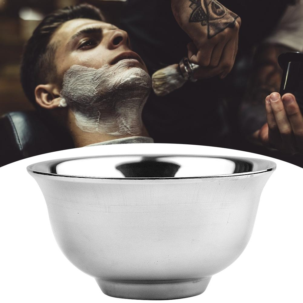 Stainless Steel Shaving Brush Bowl Barber Beard Razor Shave Cream Soap Cup For Shave Brush Male Face Cleaning Soap Mug
