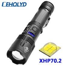 XHP 70,2 4-core Hohe Qualität Led Taschenlampe Zoombare Taschenlampe Usb Aufladbare 18650 oder 26650 Batterie Power 5000mAh laterne