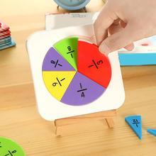 7Pcs/Set Kid Circular Fractions Counting Mathematics Learnin