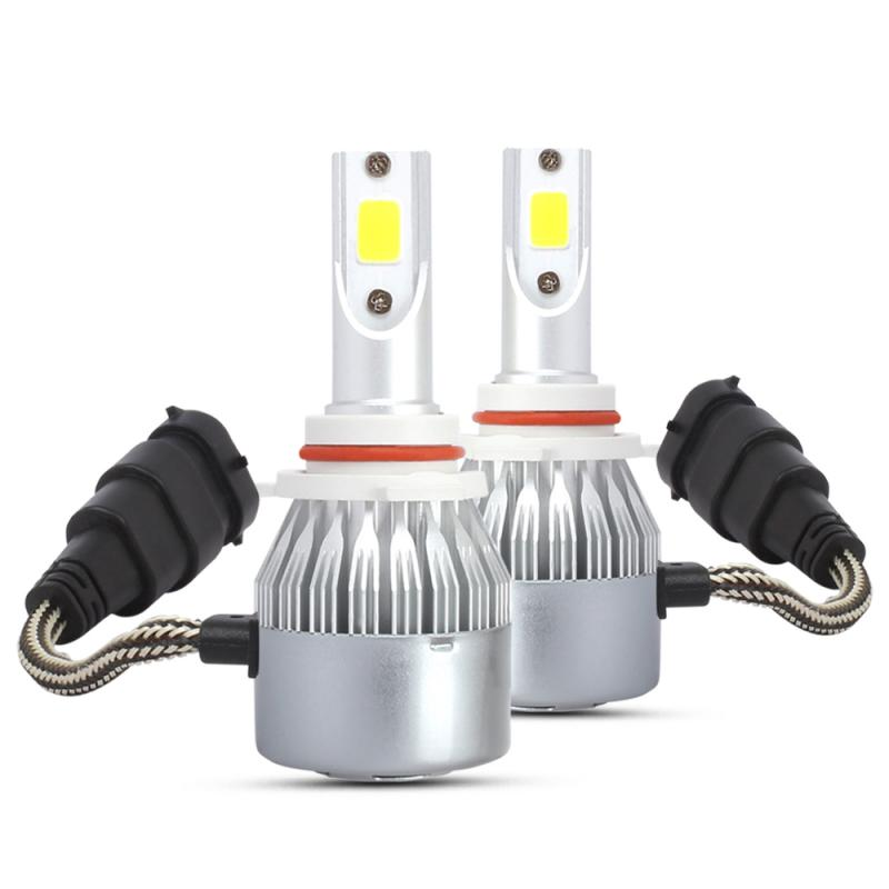 2 Pcs Arrivals Car Lights Bulbs LED H1 H3 H8 H11 9005 9006 Auto Headlights 12V Led Light 72W 8000lm 3000K Yellow Car Headlight