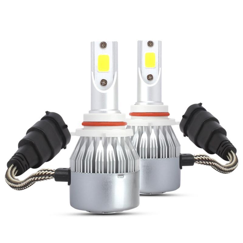 2 Pcs Arrivals Car Lights Bulbs LED H1 H3 H8 H11 9005 9006 Auto Headlights 12V Led Light 72W 8000lm 3000K Yellow Car Headlight