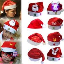 """Шапка """"Счастливого Рождества"""" для взрослых детей Рождественский Санта-Клаус/Олень/Smowman шапка год Рождественская вечеринка украшения шапки"""