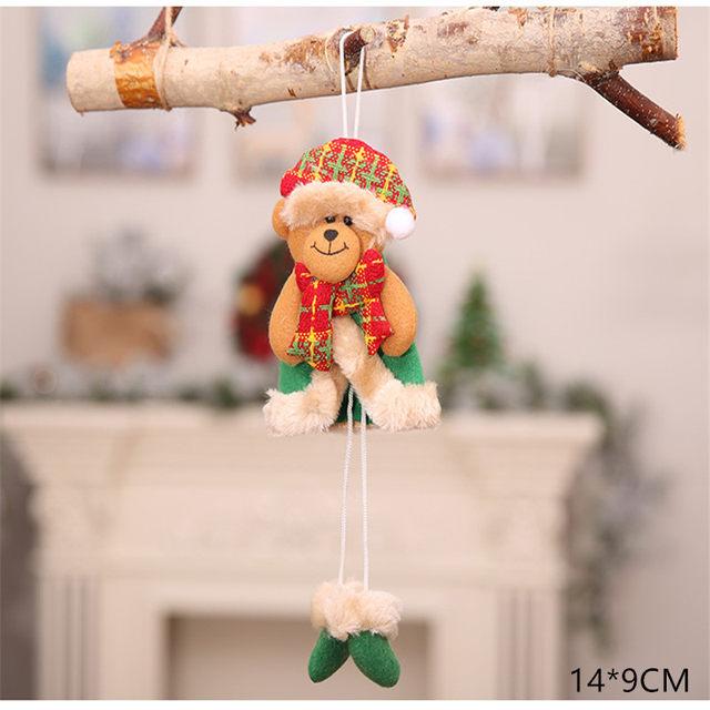 New Year 2020 Cute Santa Claus/Snowman/Angel Christmas Dolls Noel Christmas Tree Decoration for Home Xmas Navidad 2019 Kids Gift 51