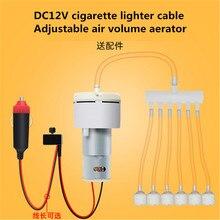 Air Pomp DC12V Zuurstof Pomp Auto Sigarettenaansteker Thuis Mini Elektrische Ac 220V Naar Dc 12V Volt V aquarium Pomps Passen Pwm Volume
