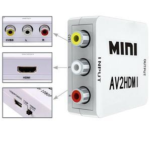 RCA к HDMI 1080P Мини RCA композитный CVBS AV к HDMI видео аудио конвертер адаптер AV2HDMI поддержка PAL SECAM PAL/M