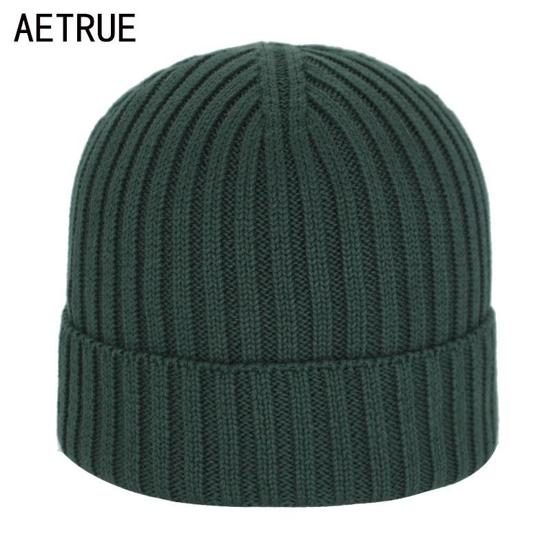 Skullies Beanies Men Winter Hats For Men Knitted Hat Cap Women Winter Beanie Hat Male Solid Gorro Bonnet Homme Cotton Men's Cap