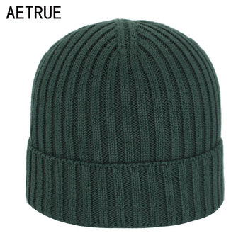 Skullies Beanies Men Winter Hats For Knitted Hat Cap Women Beanie Male Solid Gorro Bonnet Homme Cotton Men's - discount item  53% OFF Hats & Caps