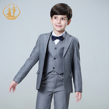 Nimble Suit for Boy Single Breasted Boys Suits for Weddings Costume Enfant Garcon Mariage Boys Blazer Jogging Garcon Grey 2020