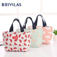 Lunch-Bag Bags Food-Box Bento-Cooler Breakfast Flamingo Funny Travel Picnic Brivilas